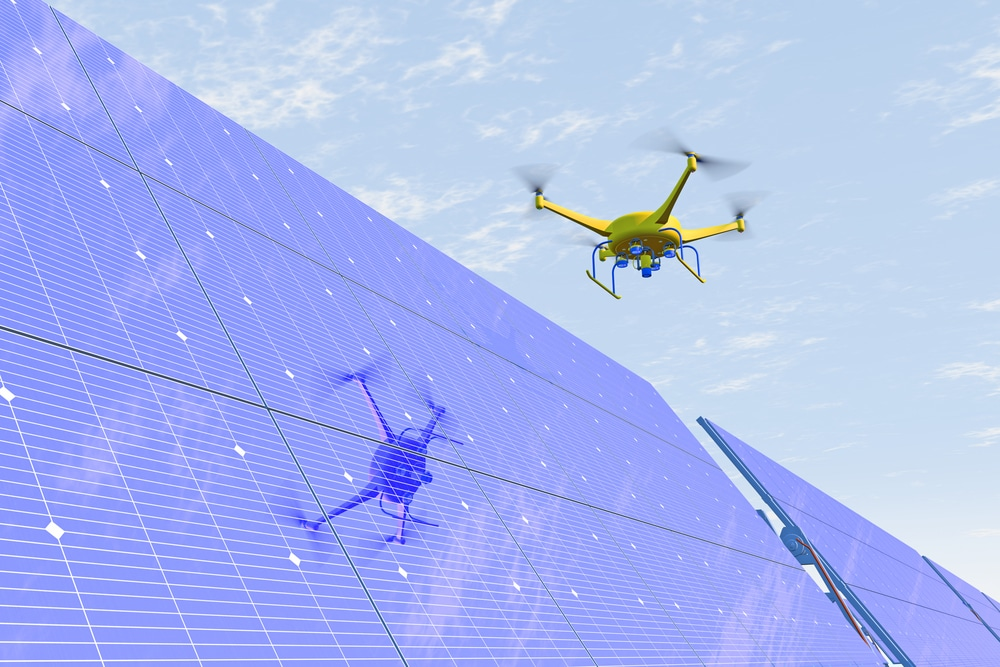 What is the use of drone in energy sector